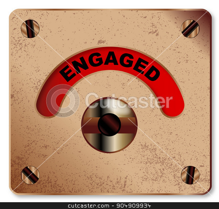 Loo Engaged Indicator stock vector clipart, A typical loo engaged indicator over a white background by Kotto