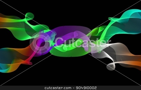 abstract background waves stock photo, abstract background waves by KANZA