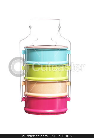 Colorful of food carrier isolated stock photo, Colorful of food carrier isolated on white background by manusy