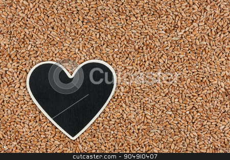 Heart pointer, the price tag lies on wheat stock photo, Heart pointer, the price tag lies on wheat,  with space for your text by alekleks