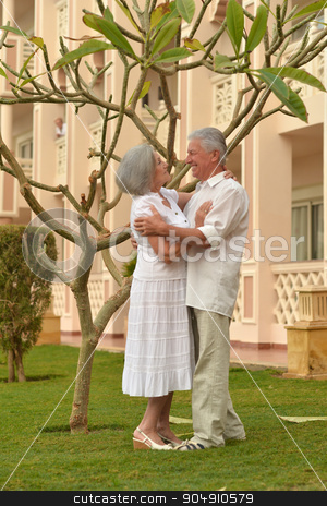 Senior couple resting at the resort stock photo, Senior couple resting at the resort during vacation by Ruslan Huzau