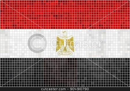Flag of Egypt stock vector clipart, Flag of Egypt - Illustration,  Abstract Mosaic of Egyptian flag,  Grunge mosaic Egypt Flag,  Abstract grunge mosaic vector by Jugoslav