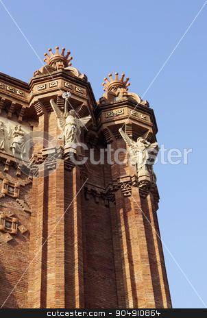 Details of the Arc de Triomf stock photo, Details of the Arc de Triomf in Barcelona, Spain  by Mile Atanasov