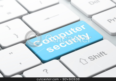 Safety concept: Computer Security on computer keyboard background stock photo, Safety concept: computer keyboard with word Computer Security, selected focus on enter button background, 3d render by mkabakov