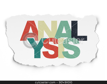 Marketing concept: Analysis on Torn Paper background stock photo, Marketing concept: Painted multicolor text Analysis on Torn Paper background by mkabakov