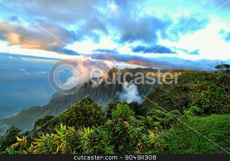 Dreamy Kauai stock photo, Dreamy Kauai vista views. by WScott