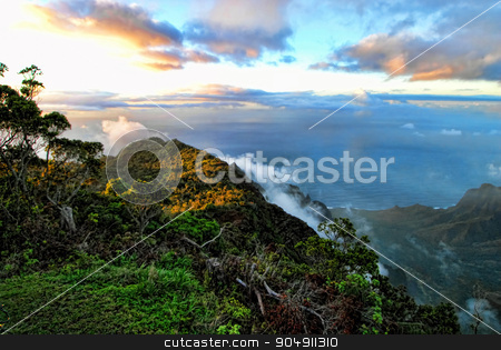 Dreamy Kauai,Hawaii. stock photo, Dreamy Kauai,Hawaii vista views. by WScott