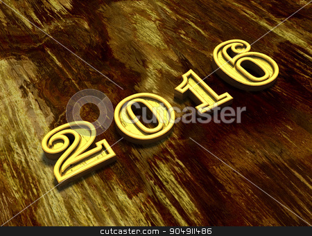 Happy New Year 2016 at wooden background stock photo, Happy New Year 2016 illustration at wooden background by ANTONIOS KARVELAS