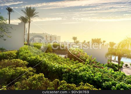 Resort in Sharm el Sheikh stock photo, Resort in Sharm el Sheikh at sunrise by Givaga