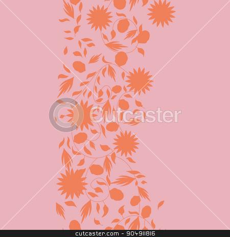 sunflower flower seamless background stock vector clipart, sunflower flower seamless background. silhouette flowers by LittleCuckoo