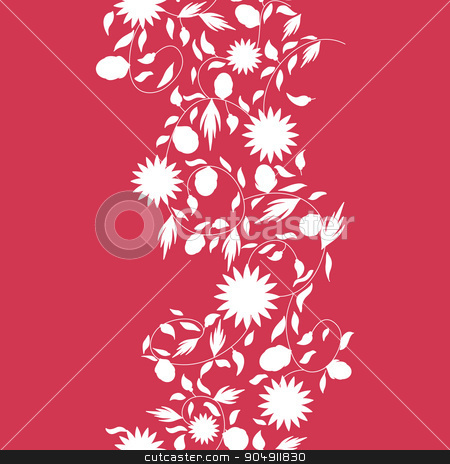 sunflower flower seamless background stock vector clipart, sunflower flower seamless background. silhouette flowers by LittleCuckoo