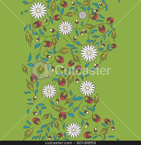 sunflower flower seamless background stock vector clipart, sunflower flower seamless background by LittleCuckoo