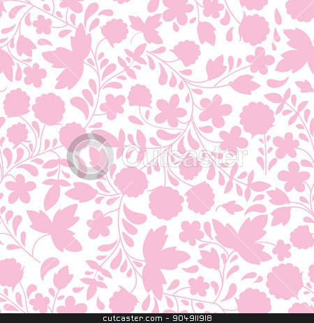 Seamless raspberry pattern. Vector illustration. stock vector clipart, Seamless background with raspberry. Vector illustration. the silhouette of the plants by LittleCuckoo