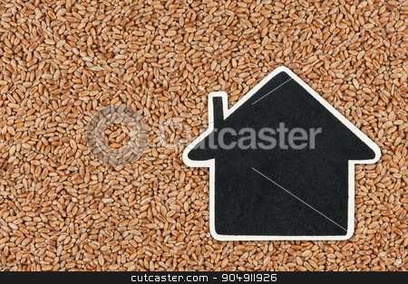 House pointer, the price tag lies on wheat stock photo, House pointer, the price tag lies on wheat,  with space for your text by alekleks