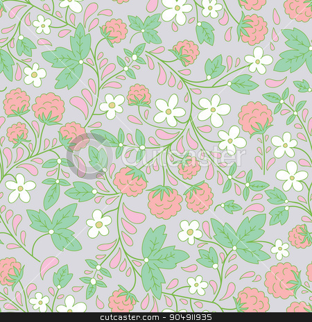 Seamless raspberry pattern. Vector illustration. stock vector clipart, Seamless background with raspberry. Vector illustration. by LittleCuckoo