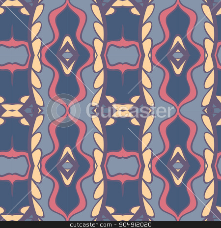 Abstract ornament pattern. kaleidoscope effect. stock vector clipart, Abstract seamless ornament pattern. the kaleidoscope effect. Ethnic damask motif. Vintage style pattern. Vector illustration by LittleCuckoo