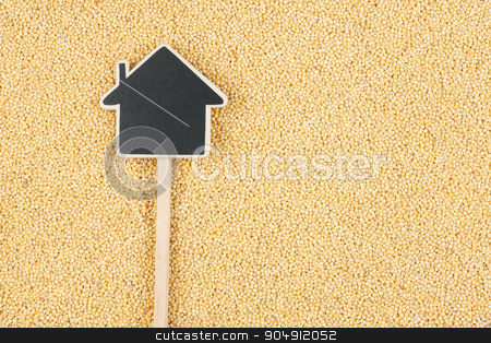 House pointer, the price tag lies on  millet stock photo, House pointer, the price tag lies on  millet,  with space for your text by alekleks