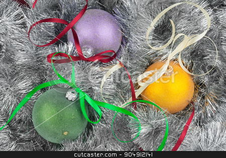 Christmas ball and decoration stock photo, Christmas ball and decoration, can be used as background by alekleks