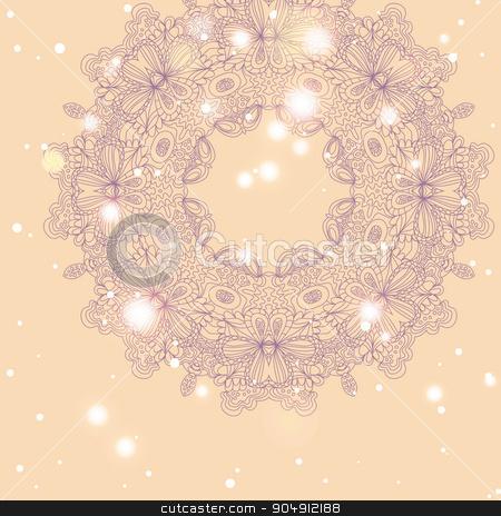 Mandala ornament Geometric circle element stock vector clipart, Mandala ornament Geometric circle element by LittleCuckoo