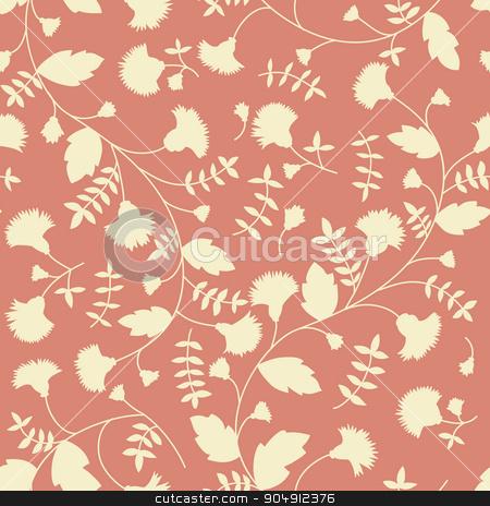 Cornflower pattern. Vector seamless texture stock vector clipart, Cornflower pattern. Vector seamless texture by LittleCuckoo