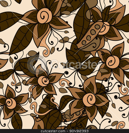 abstract flower pattern.  Vector seamless texture stock vector clipart, abstract flower pattern.  Vector seamless texture by LittleCuckoo