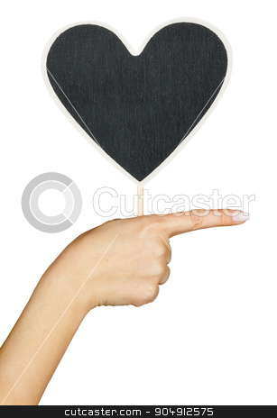 Hand with a sign  the heart stock photo, Hand with a sign  the heart, isolated on white background by alekleks