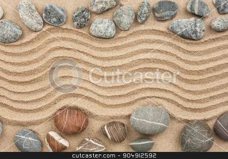 Stone with sand as background stock photo, Stone with sand as background, concept by alekleks