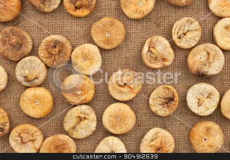 Background figs lying on sackcloth stock photo, Background figs lying on sackcloth, texture by alekleks
