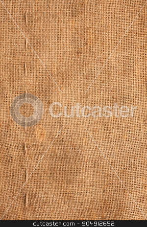 Line, guy-sutures on  Burlap ,sacking stock photo, Line, guy-sutures on  Burlap ,sacking, it is possible to use as a background by alekleks
