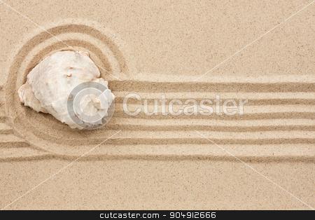 seashell  lying on the sand stock photo, seashell  lying on the sand, can be used as background by alekleks