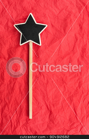 Pointer star  with space for your text stock photo, Pointer star  with space for your text, lies on red  background by alekleks