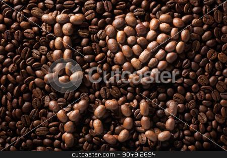Inscription I love you stock photo, Inscription I love you, writing on coffee beans by alekleks