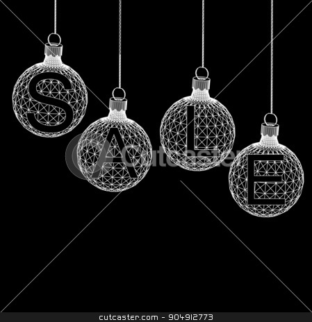 Christmas ball Design Sale. Shopping offers Background. Vector illustration eps 10 stock vector clipart, Christmas ball Design Sale. Shopping offers Background. Vector illustration eps 10 by Vladimir Khapaev