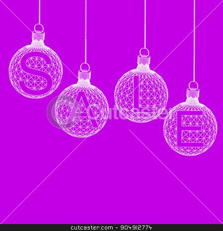 Christmas ball Design Sale. Shopping offers Background. Vector illustration eps 10 stock vector clipart, Christmas ball Design Sale. Shopping offers Background. Vector illustration eps 10 by Vladimir Khapaev