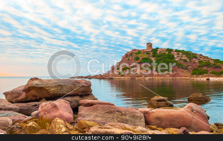 Landscape of the coast of Sardinia, Porticciolo stock photo, Landscape of the coast of Sardinia, Porticciolo at sunset by Francesco