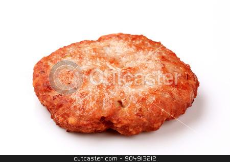 Hamburger patty stock photo, Pan fried hamburger patty - studio by Digifoodstock