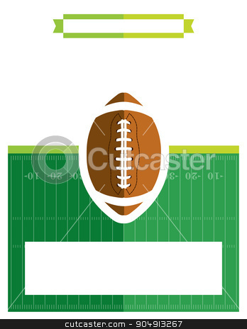 American Football Game Flyer Illustration stock vector clipart, A template flyer background for an American football game. Vector EPS 10 available. by Jason Enterline