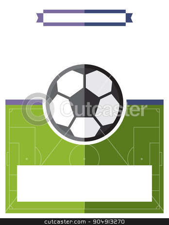 Soccer Football Game Flyer Illustration stock vector clipart, A template flyer background for a soccer football game. Vector EPS 10 available. by Jason Enterline