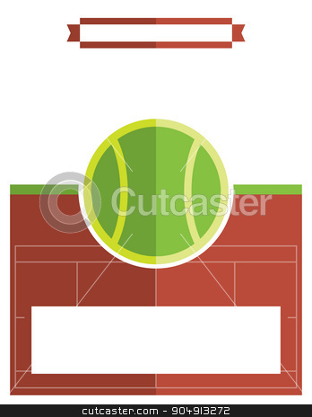 Tennis Match Flyer Illustration stock vector clipart, A template flyer background for a tennis match. Vector EPS 10 available. by Jason Enterline