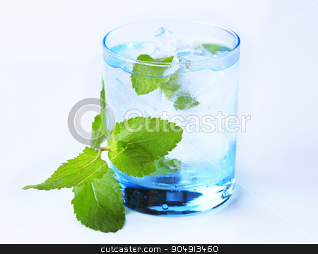 Iced drink stock photo, Glass of iced drink with fresh mint by Digifoodstock