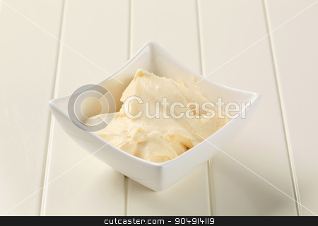 Dipping sauce stock photo, Bowl of creamy dipping sauce or spread by Digifoodstock