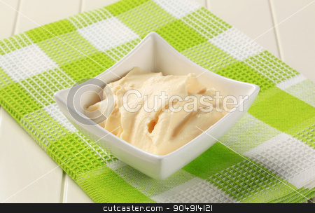 Creamy condiment  stock photo, Bowl of homemade creamy condiment  by Digifoodstock