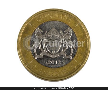 Detail of Botswana Pula coin stock photo, Detail of Botswana Pula coin. Botswana Pula is the national currency of Botswana by Artush