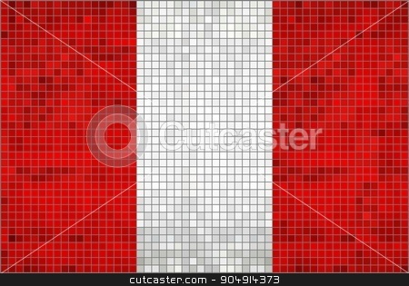 Flag of Peru stock vector clipart, Flag of Peru - Illustration,  Abstract Mosaic of Peru Flag,  Grunge mosaic of The Peruvian flag,  Abstract grunge mosaic vector  by Jugoslav
