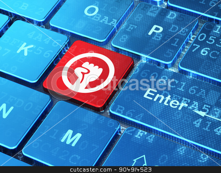 Political concept: Uprising on computer keyboard background stock photo, Political concept: computer keyboard with Uprising icon on enter button background, 3d render by mkabakov