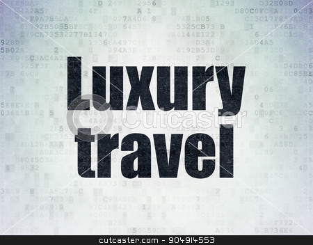 Travel concept: Luxury Travel on Digital Paper background stock photo, Travel concept: Painted black word Luxury Travel on Digital Paper background by mkabakov