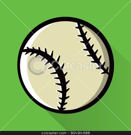 Single Baseball Icon Illustration stock vector clipart, A baseball icon design illustration. Vector EPS 10 available. by Jason Enterline