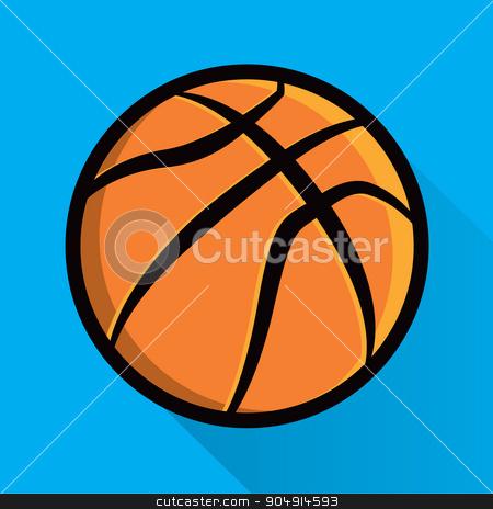 Single Basketball Icon Illustration stock vector clipart, A basketball icon design illustration. Vector EPS 10 available. by Jason Enterline