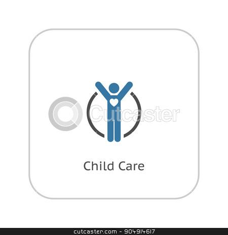 Child Care Icon. Flat Design. stock vector clipart, Child Care and Medical Services Icon. Flat Design. Isolated. by Vadym Nechyporenko