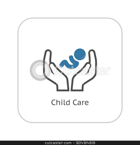 Child Care Icon. Flat Design. stock vector clipart, Child Care and Medical Services Icon. Flat Design. Isolated. by Vadym Nechyporenko